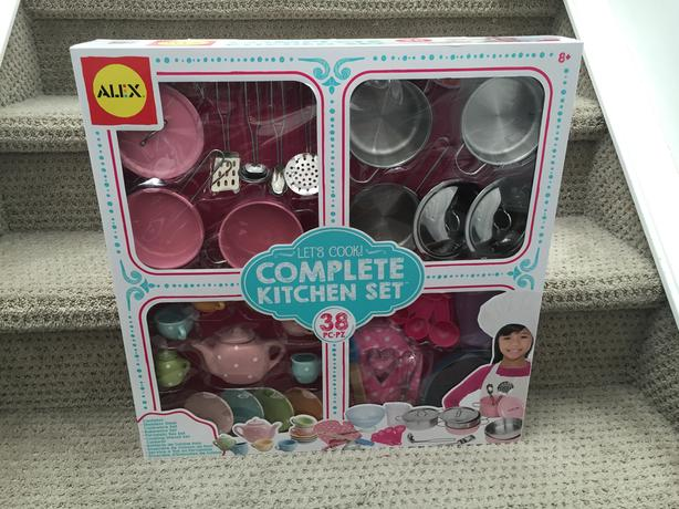 ==Unopened===38pcs Complete kitchen playset $25 (NEW)