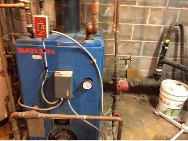 FREE.  FREE.  Hot water boiler