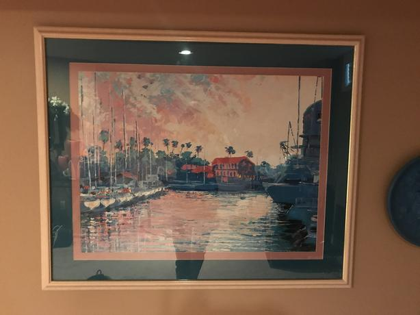 "FRAMED MATTED PICTURE 43"" X 35"""