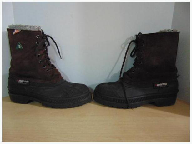 Winter Boots Men's Size 8 Baffin Work Boots Brown Suade With Liner