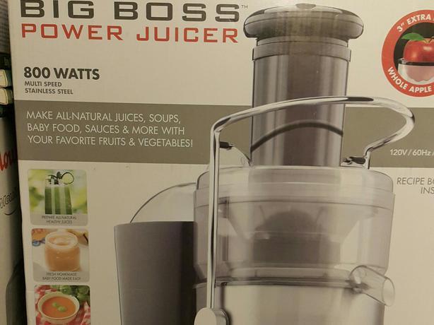 New Big Boss Stainless Steel Power Juicer (800 watts)