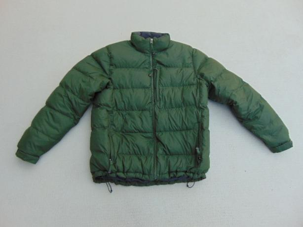 Winter Coat Men's Size Large  LL Bean Goose Down Dark Green  Excellent