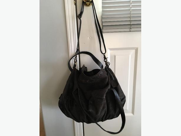 A.S.98 black leather bag