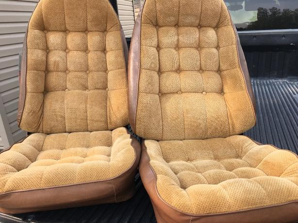 Pair 1977-1981 Camaro Bucket Seat