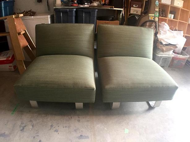 CB2 Slipper chairs - pair