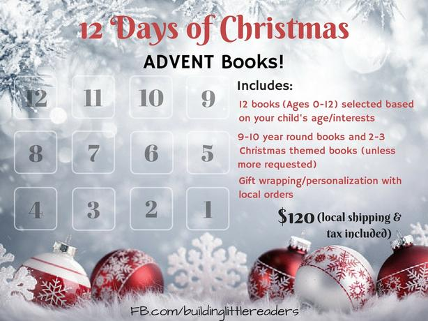 12 Days of Christmas Advent BOOKS