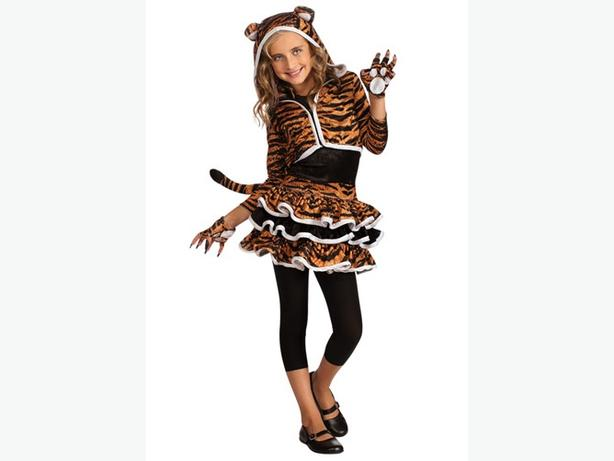 Girls Tiger Tigress Costume