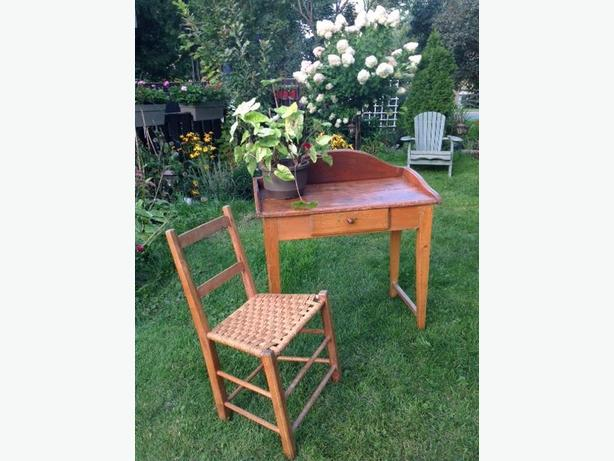 Antique Canadiana Style Washstand + Chair