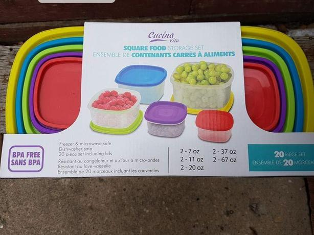 Square food storage set