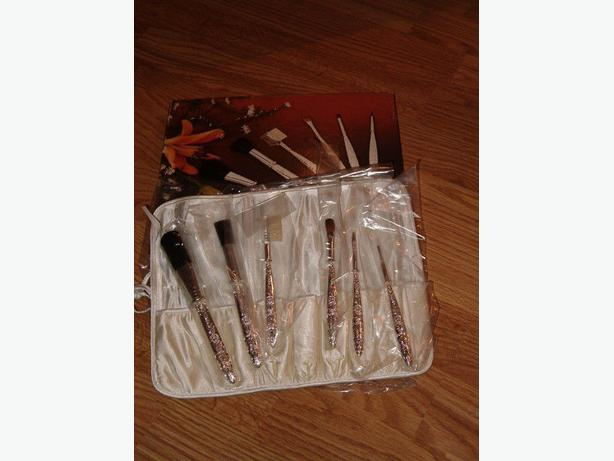 silver-plated 6pcs make-up-cosmetic set