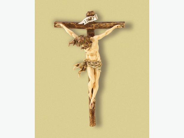 Christian Religious Nail Cross Ornament Statue Crucifix Jesus Wall Plaque 3PC