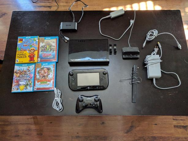 OBO Wii U + 5 Games + GameCube Adapter + Pro Controller