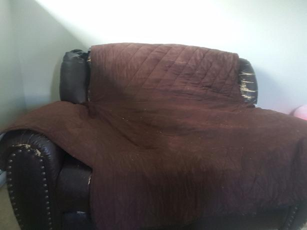 Free Leather Reclining Love Seat