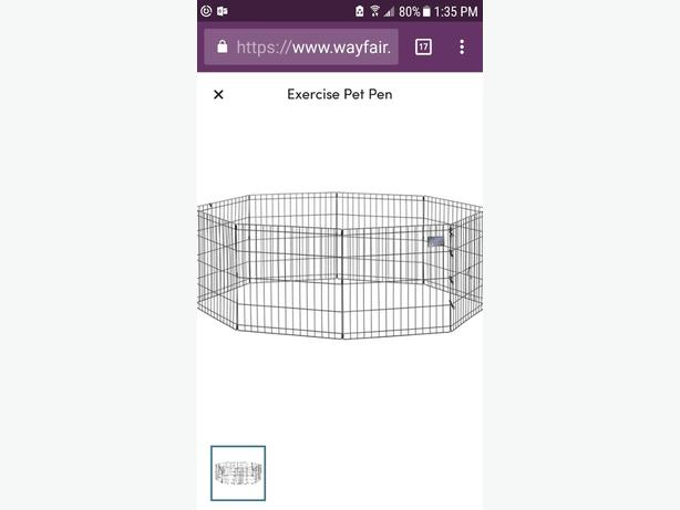 2  exercise dog pens  dog crate