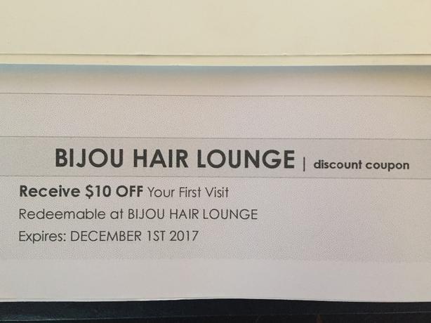 Bijou Hair Lounge just opened