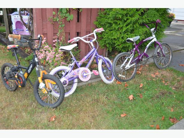 3 Children's Bikes