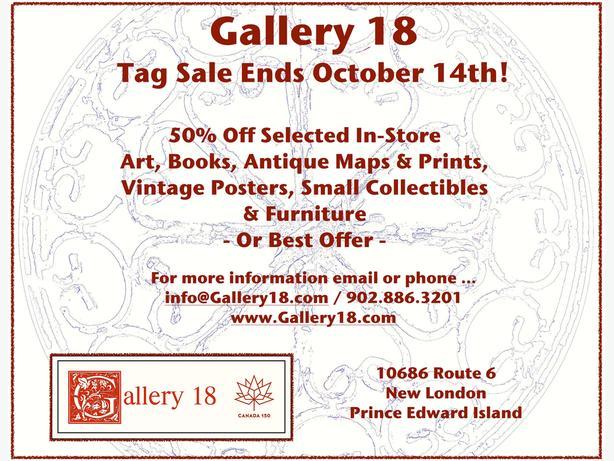 Gallery 18 Tag Sale Ends This Weekend!