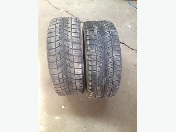 2 - 225/50R17 Winter Tires on Steel Rims