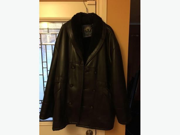 LEATHER LOOKING WINTER JACKET
