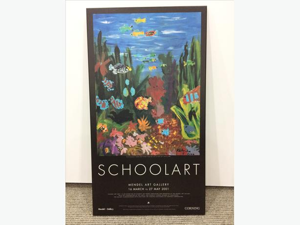 """School Art"" Mendel Art Gallery Exhibit poster, board-mounted"