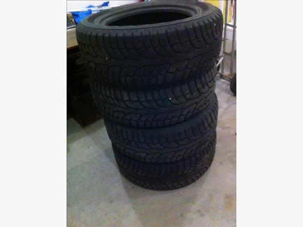 4 - winter tires a set used 1 winter - located in yorkton - read below