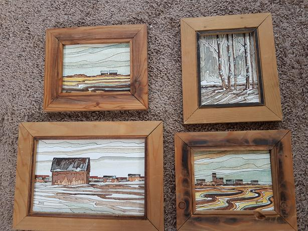Set of 4 Henry Letendre Paintings
