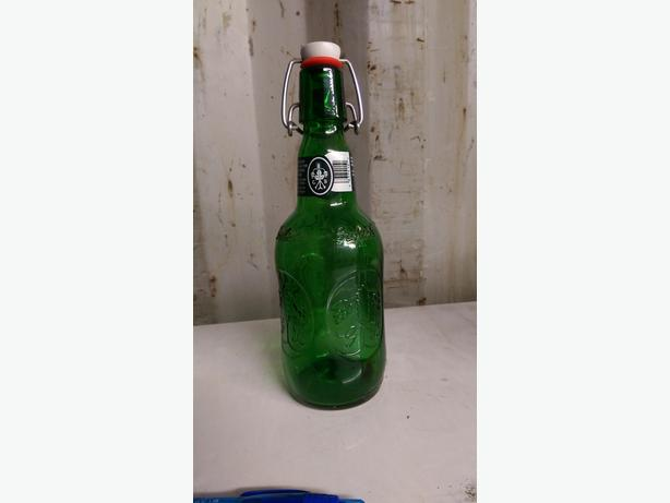 Green Flip top Beer Bottles