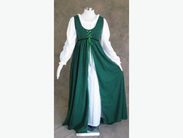 Two-Piece Lace-Up Medieval Outfit or Costume