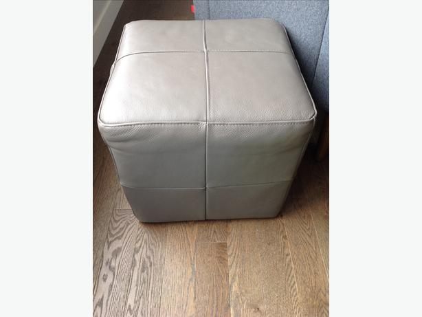 EQ3 Leather Rubix Ottoman