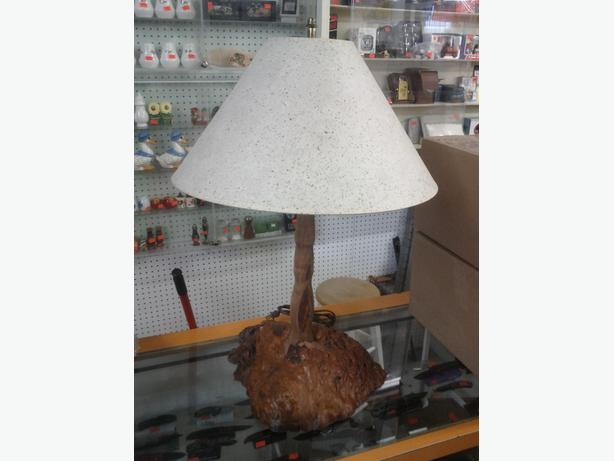 Burl Base Lamp