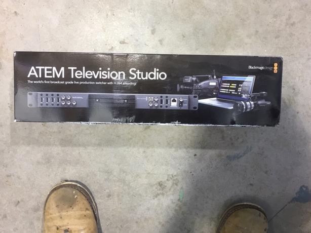 ATEM television studio 4 channel switcher