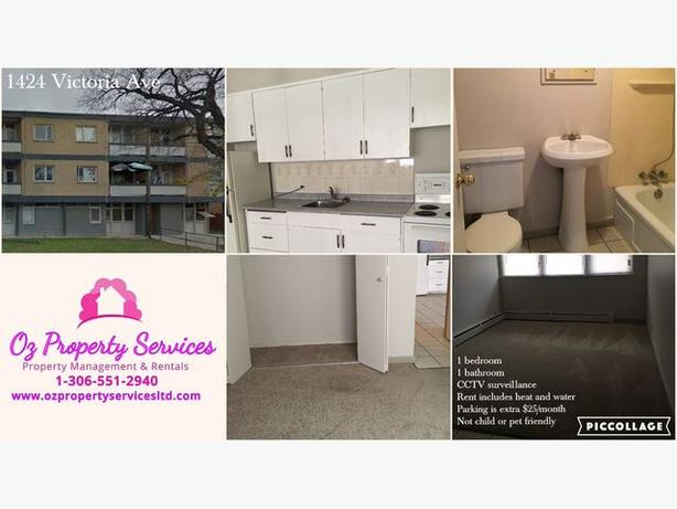1424 Victoria Ave- Bachelor,1 bedroom, 2 bedroom FOR RENT