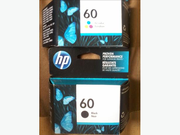 hp 60 tri colour and black both new