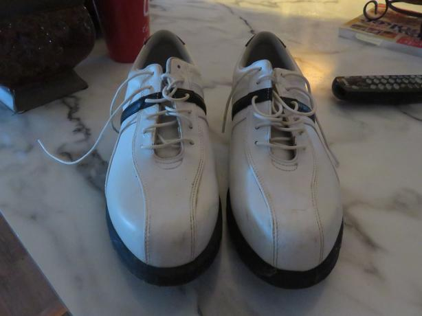 Ladies size10 white golf shoes