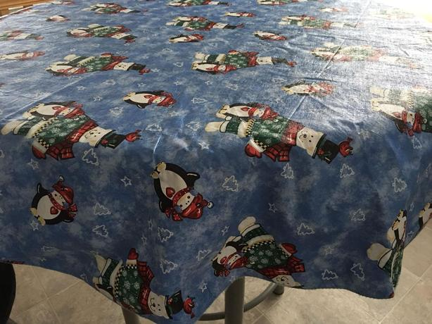 "Christmas Tablecloth 60"" round"