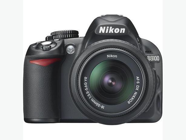 NIKON D3100 AF-S 18-55 DX G VR, Mem.Card incl.