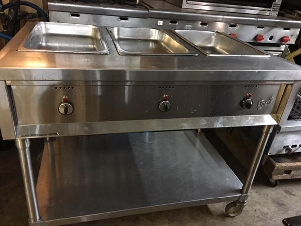 Quest Electric 3 Compartments Steam Table