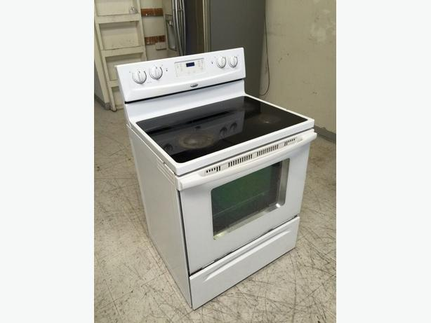 Whirlpool glass cooktop range