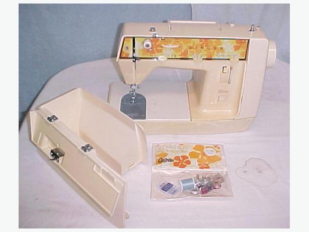 Vintage Lightweight Singer Genie Portable Zig-Zag Sewing Machine~Case~Works