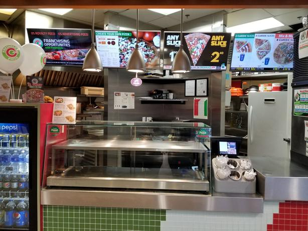 Established pizza franchise in mall food court