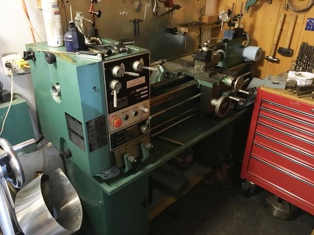 Industrial Bolton Lathe, N&G Milling, Air Comp,Chop/Band Saw, Drill Press