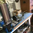 Industrial Bolton Lathe, N&G Milling, Air Comp,Chop/Band Saw, Drill Press