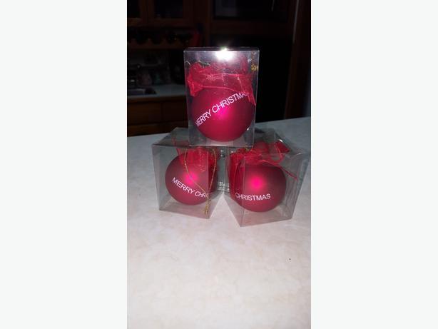 3 New Glass Christmas Balls