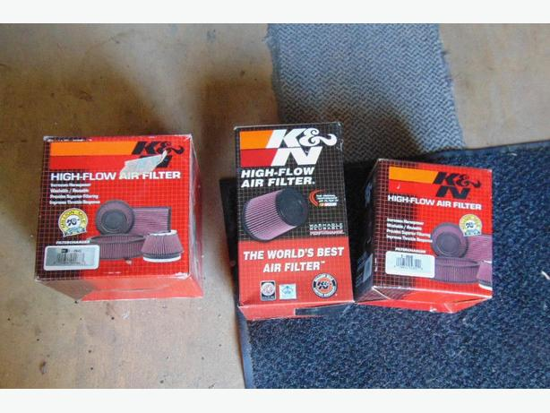 New K & N High-Flow Air Filters, 2 sizes