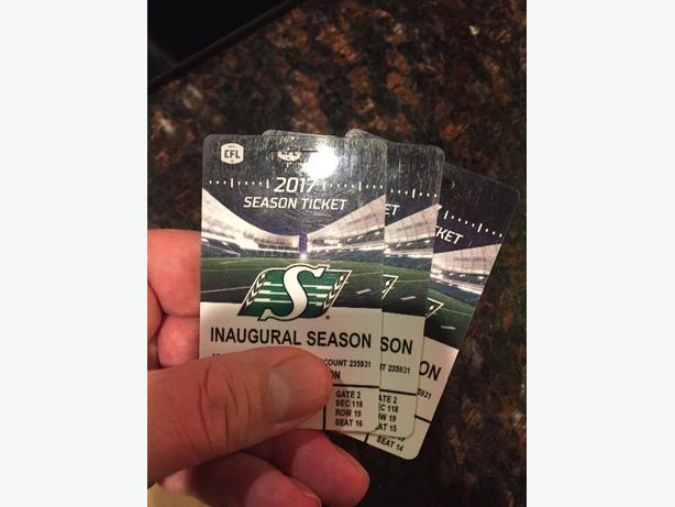three tickets to Saskatchewan vs Ottawa CFL game