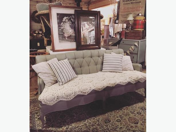 Chalk Painted French Provincial Couch