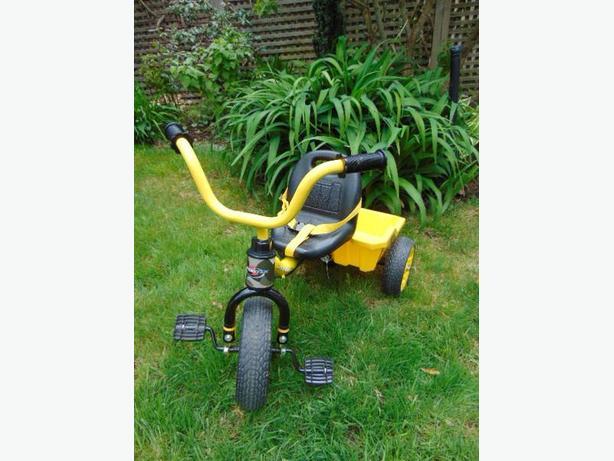 Trike Child Size Yellow Black Tuff Stuff Truck Box As New Age 2-4 With Seat Belt