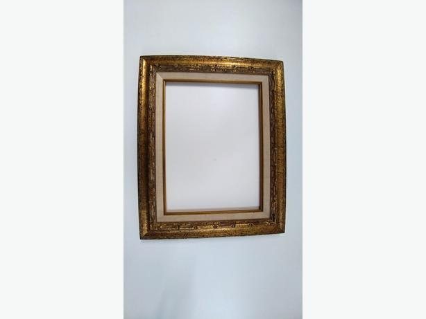 Mexican Wood Frame with Gold Accents