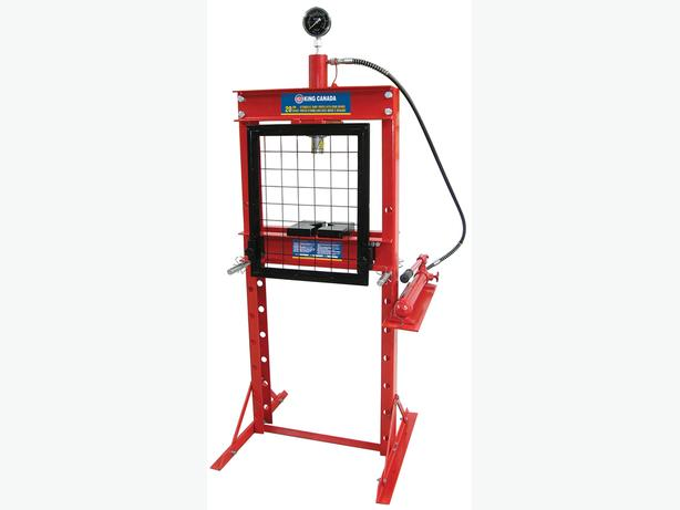20 TON HYDRAULIC SHOP PRESS WITH GRID GUARD