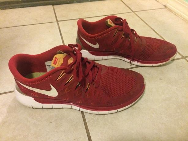 Red Nike Free 5.0 - Size 10